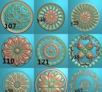 圆形洋花合集1