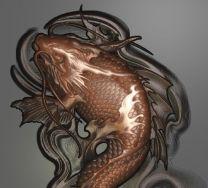 龙鱼灰度图