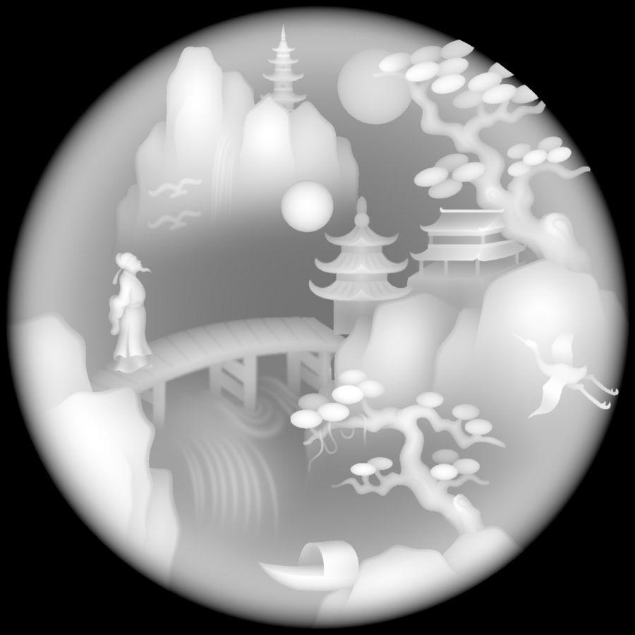 圆形对月吟唱小桥流水古松.jpg