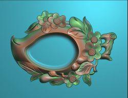 桃子型烟灰缸精雕图
