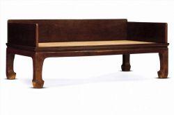 中式家具设计图纸——黄花梨素身直脚三屏罗汉床
