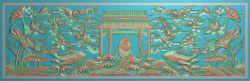 鲤鱼跃龙门精雕图浮雕图