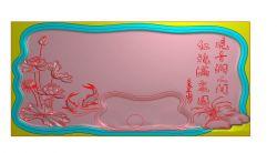 荷花叶鲤鱼茶盘