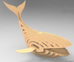 动物拼图小鲸鱼灯架