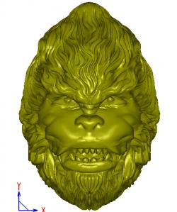 圆雕猴子头