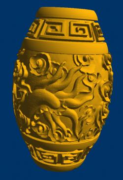 龙纹珠圆雕