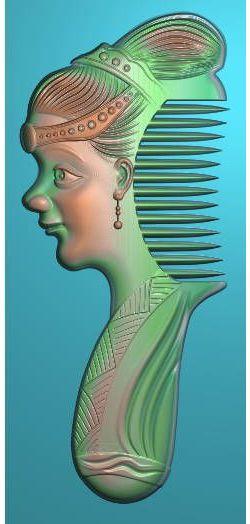 女人头梳子
