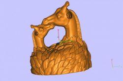 长颈鹿母爱
