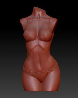 美女身体雕像stl格式