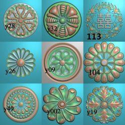 圆形洋花合集10