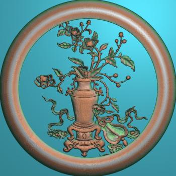 花瓶扇圆框