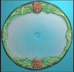 双龙戏珠茶盘