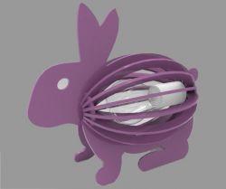 动物拼图小兔子灯架