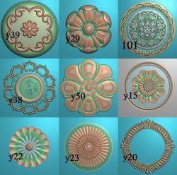 圆形洋花合集12
