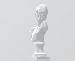 古希腊女诗人萨福半身雕像