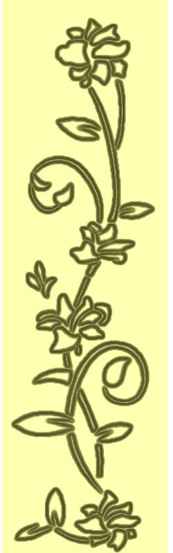 镂空书签花